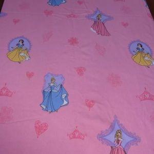 Disney Princess's twin size flat flannel bed sheet